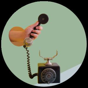 abgehobenes Telefon